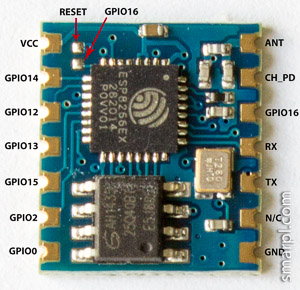 ESP8266 ESP-04 board pin reference